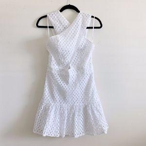 Line & Dot White Lace Dress